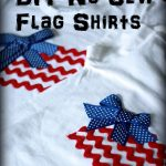 No Sew Flag Shirts {DIY}