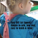 Simple and Easy DIY Art Smocks (tutorial}