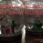 Simple DIY Snow Globes