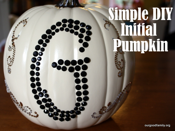 Simple DIY Initial Pumpkin