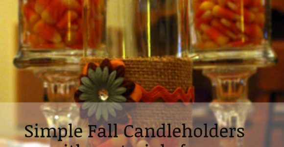 DIY Fall Candle Holders