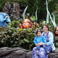 Sam and Mommy at EPCOT