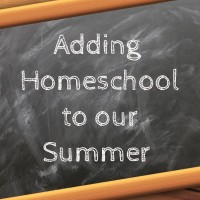 Adding Homeschool to our Summer