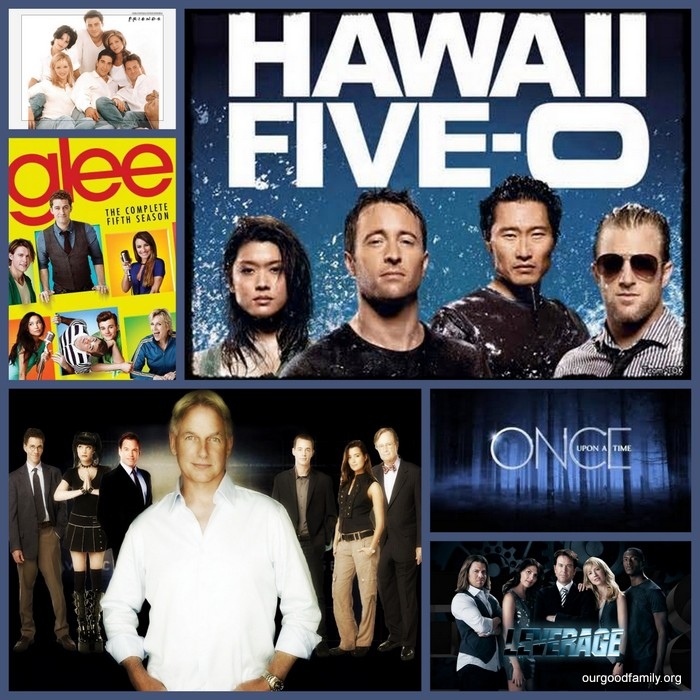 Top Netflix Picks - Friends, Hawaii Five 0, NCIS, Glee, Once Upon a Time