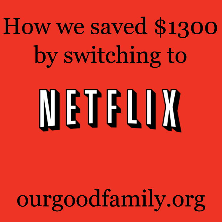 How we saved $1300 switching to Netflix
