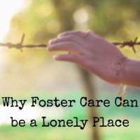 why foster care can be a lonely place
