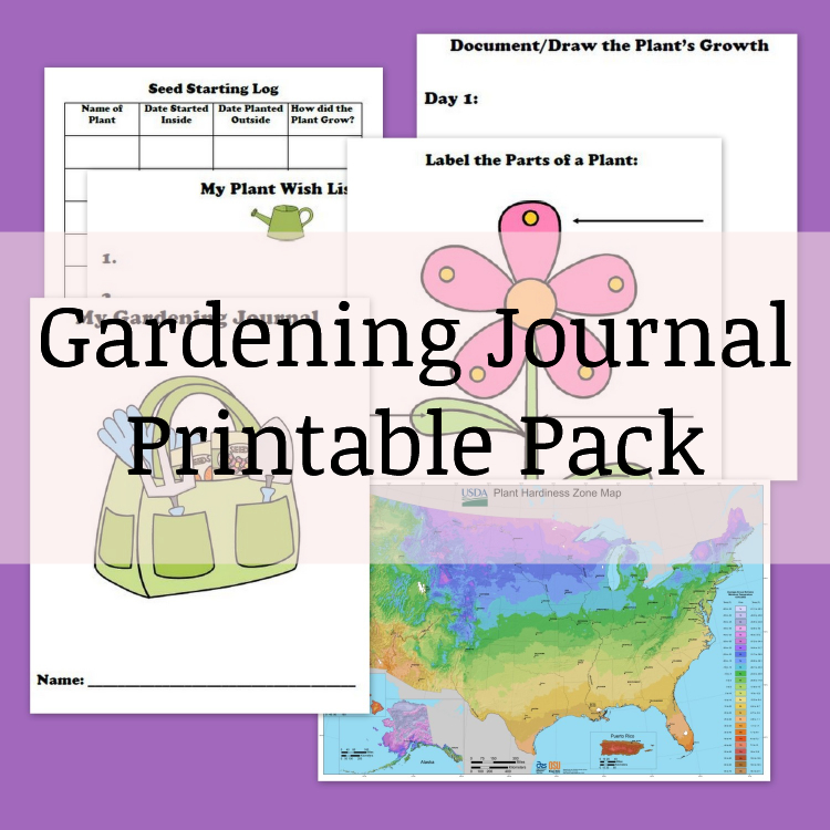 Gardening Journal Printable Pack