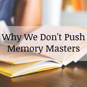 Why We Don't Push Memory Masters
