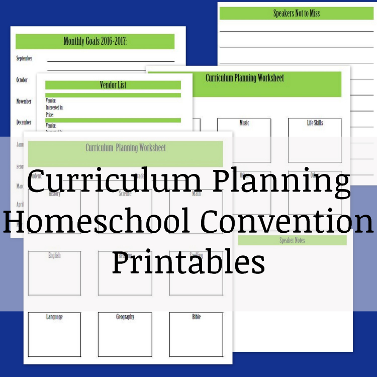 curriculum planning printables