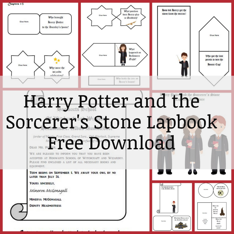 Harry Potter and the Sorcerer's Stone Lapbook Free Download