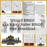 Harry Potter Wizard BINGO Free Download