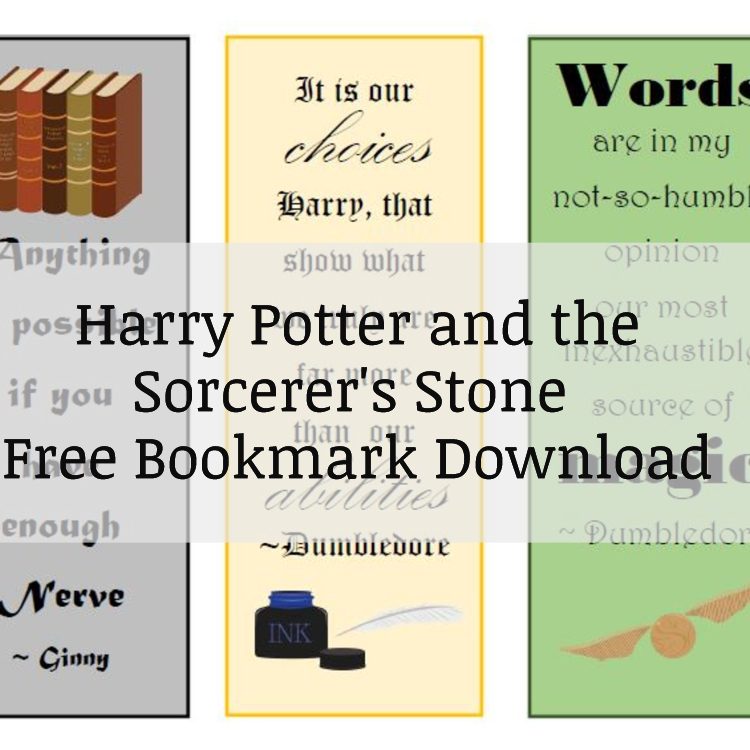 Harry Potter and the Sorcerer's Stone FREE Bookmark Download