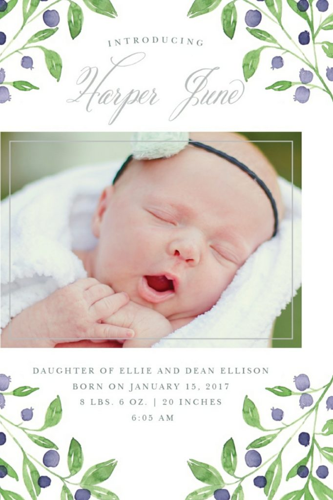 Adorable Baby Announcements from Basic Invite