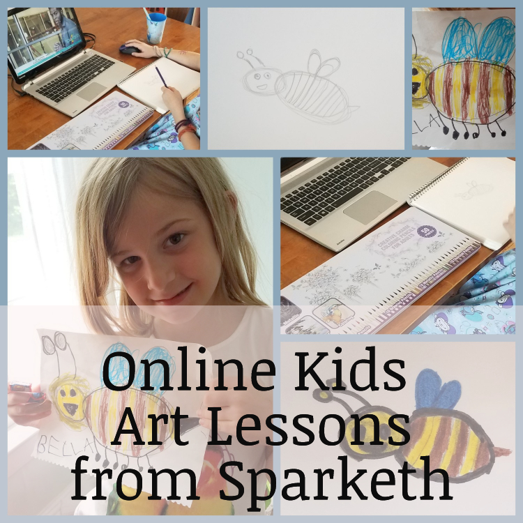 Online Kids Art Lessons from Sparketh