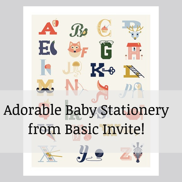 adorable baby stationery from Basic Invite