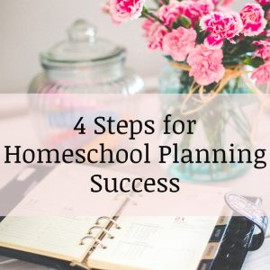 Homeschool Planning in 4 Easy Steps