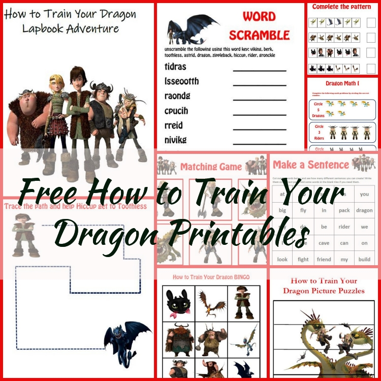It's just a graphic of Playful How to Train Your Dragon Free Printables