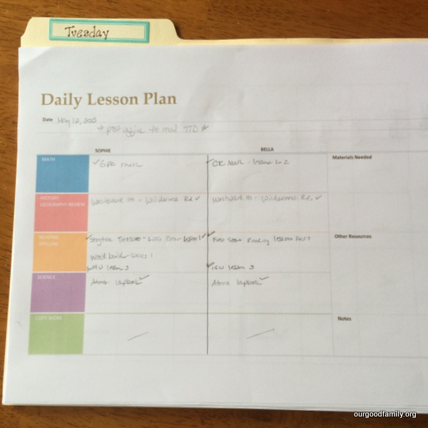 Free Daily Lesson Planner