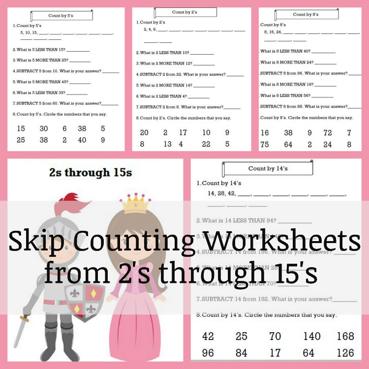 Printable Worksheets worksheets counting to 20 : Skip Counting Worksheet Download * Our Good Life